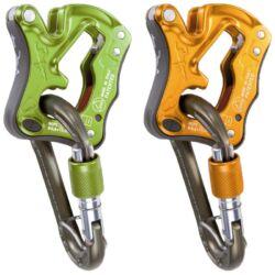 CT Click Up félautomata biztosítóeszköz (narancssárga, zöld) + AJÁNDÉK karabiner